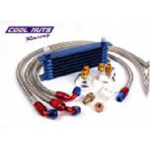 Engine Oil Cooler Kit - 7 Rows, Remote Oil Filter and 3 Hoses